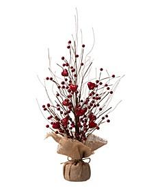 Valentine's Berry Heart Table Tree