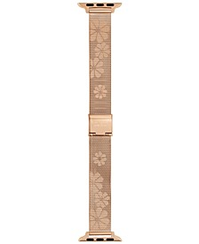 Rose Gold-Tone Stainless Steel Mesh Bracelet for Apple Watch®