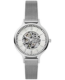 Women's Automatic Anita Stainless Steel Mesh Bracelet Watch 36mm