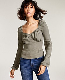 Blouson Ruched Top, Created for Macy's
