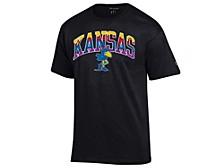 Kansas Jayhawks Men's Neon Vault Arch & Logo T-Shirt
