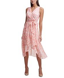 Floral Chiffon Midi Dress