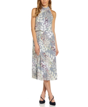 Adrianna Papell Midi dresses BOW-BACK HALTER MIDI DRESS