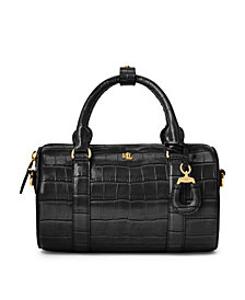 Lauren Ralph Lauren Leather Small Satchel