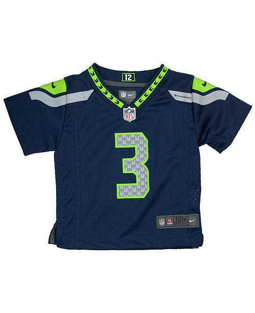 huge discount fee96 f3ea2 Nike Baby Russell Wilson Seattle Seahawks Game Jersey ...