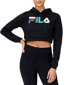 Jill Logo Cropped Hoodie