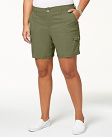 Plus Size Cargo Shorts, Created for Macy's