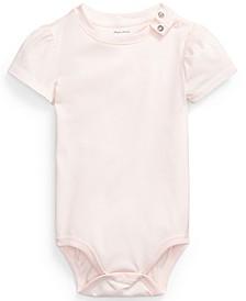 Ralph Lauren Baby Girls Cotton Puff-Sleeve Bodysuit