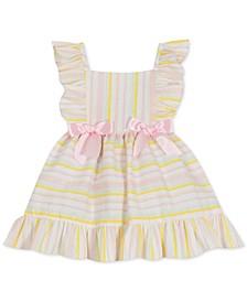 Baby Girls Foil Striped Seersucker Dress