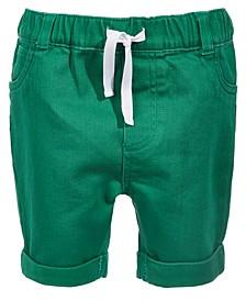 Toddler Boys Green Denim Shorts, Created for Macy's