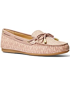 Sutton Signature Logo Moccasin Flat Loafers