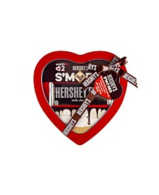 """I Love S'Mores"" Heart Tin with S'Mores"