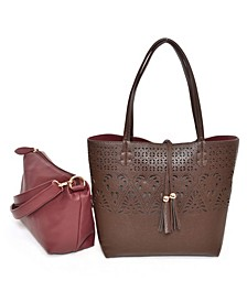 Women's Bag in Bag Tote Detailed with Lasercut