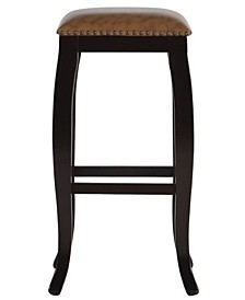 """Belsey Francisco 30"""" Backless Square Top Bar Stool"""