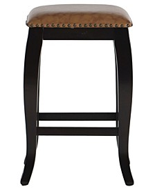 """Belsey Francisco 24"""" Backless Square Top Counter Stool"""