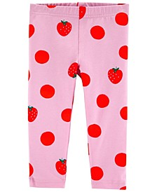 Toddler Girls Strawberry Capri Leggings