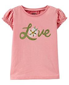 Toddler Girls Love Jersey Top