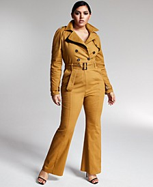 Zerina Akers for Trench Jumpsuit, Created for Macy's