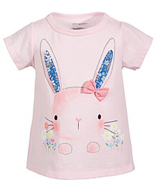 Baby Girls Garden Bunny Cotton T-Shirt, Created for Macy's