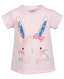 Baby Girls Garden Bunny Cotton T-Shirt, Created for Macy's