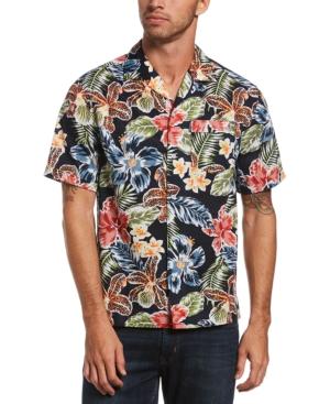 1950s Mens Shirts | Retro Bowling Shirts, Vintage Hawaiian Shirts Original Penguin Mens Tropical Floral-Print Camp Shirt $79.00 AT vintagedancer.com