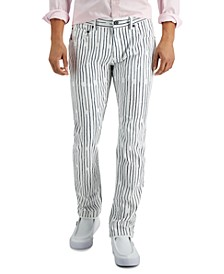 INC Men's Slim-Fit Striped Pants, Created for Macy's
