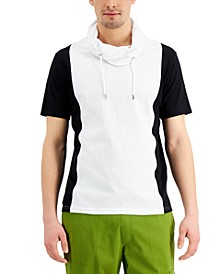 Men's Colorblocked Funnel-Neck T-Shirt, Created for Macy's