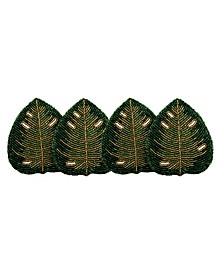 Beaded Leaf Coasters