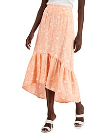 Petite High-Low Ruffled Skirt, Created for Macy's
