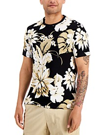 Men's Tonal Floral T-Shirt, Created for Macy's