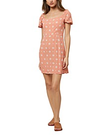 Juniors' Mandia Puff-Sleeve Dress