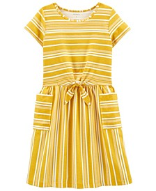 Big Girls Striped Pocket Dress