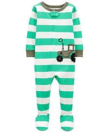 Toddler Boys Tractor Snug Fit Footie Pajama Set