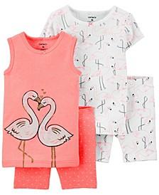 Toddler Girls 4-Piece Pajama Set