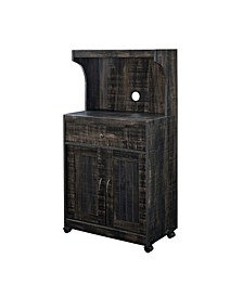 1 Drawer and Top Shelf Microwave Cart with Double Door Cabinet