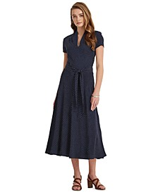 Polka-Dot Midi Dress