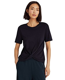 Twist Front Short Sleeve Top