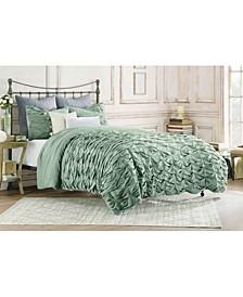 Kendall Pleated Duvet Cover, Full/Queen