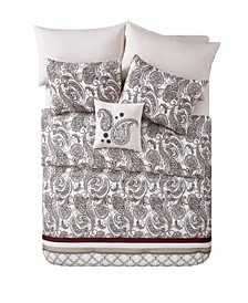 Georgie Paisley Bed in a Bag 8 Piece Comforter Set, King