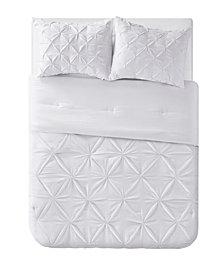 VCNY Home Aria Tassel Pintuck 3 Piece Comforter Set, King