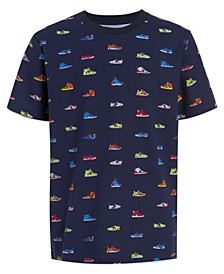 Toddler Boys Sneaker Print Short Sleeve T-shirt
