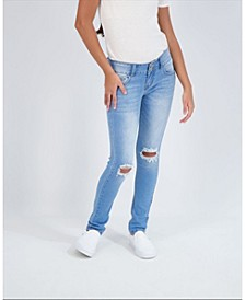 Big Girls 2 Button Skinny Jeans