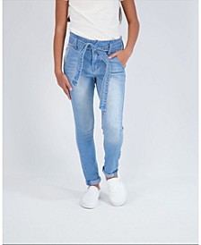 Big Girls Paper Bag Waist Jeans