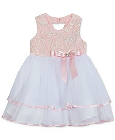 Baby Girls Embroidered Tiered Dress