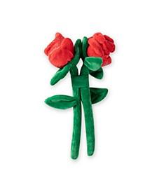 2 Roses Set Plush Dog Toy