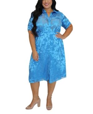 Women's Plus Size Charmeuse Shirt Dress
