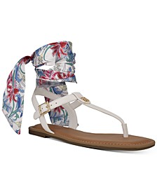 Jinis Ankle Tie Thong Sandals