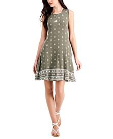 Petite Bandana Print Flip Flop Dress, Created for Macy's