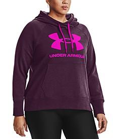 Plus Size UA Rival Fleece Logo Hoodie