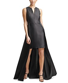 V-Neck Short-Long Gown